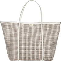 Dolce And Gabbana Woven Large Shopping Tote White
