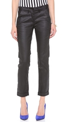 3X1 Coated Trousers Black Coated