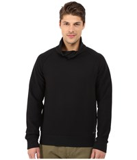 Boss Orange Wawy Structured Terry Shawl Collar Sweatshirt With Button Detail Black Men's Sweatshirt