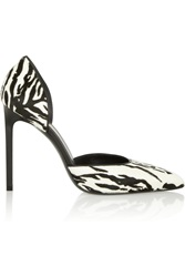 Saint Laurent Paris Zebra Print Calf Hair Pumps