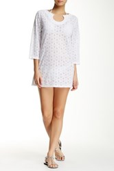 Laundry By Shelli Segal Spell Bound Tunic White