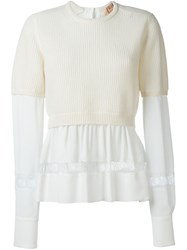 N 21 Nao21 Layered Jumper White