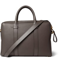 Tom Ford Buckley Leather Briefcase Gray