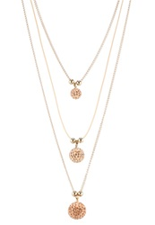 Sweet Deluxe Jolyn Necklace Gold Peach Crystal