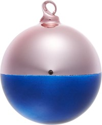 Cb2 Two Tone Pink Navy Ornament