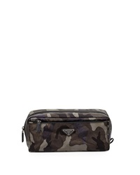 Prada Camouflage Nylon Toiletry Kit Gray