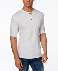 Weatherproof Nep Henley Shirt Natural
