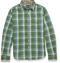 Alex Mill Check Cotton Shirt Green