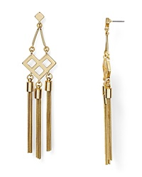 Dylan Gray Snake Tassel Earrings Gold