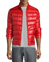 Moncler Acorus Quilted Nylon Puffer Jacket Red