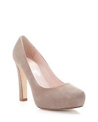 Kate Spade New York Almond Toe Platform Pumps Nessle High Heel Mousse