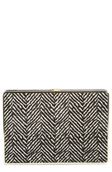 Ivanka Trump Genuine Calf Hair Box Minaudiere