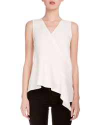 Proenza Schouler V Neck Asymmetric Hem Tunic Off White Black
