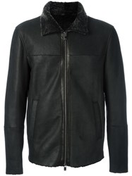Drome Zipped Lambksin Jacket Black