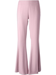 Acne Studios 'Mello' Flared Trousers Pink And Purple