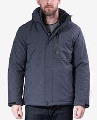 Hawke And Co. Outfitter Outfitters Water Resistant Down Ski Jacket Heather Navy