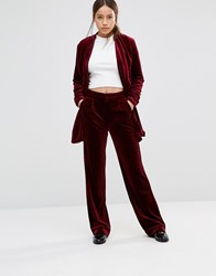 Gestuz Charlie Straight Trousers Bourdeaux Red