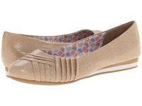 Soft Style Corrie New Taupe Lizard Fabric Women's Dress Flat Shoes
