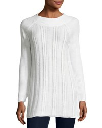 Neiman Marcus Long Sleeve Knit Tunic Ivory