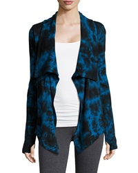 Marc Ny Performance Tie Dye Draped Cardigan Deep Sea