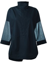 Akris Zipped Collar Sweatshirt Blue
