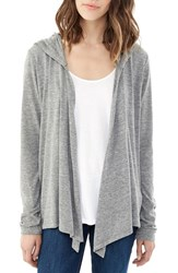 Alternative Apparel Women's Alternative Hooded Jersey Cardigan Eco Grey