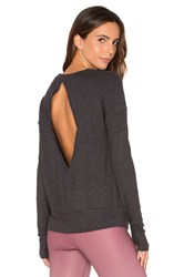 Alo Yoga Intricate Long Sleeve Charcoal
