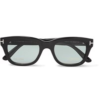 Tom Ford Private Collection D Frame Horn Optical Glasses Black