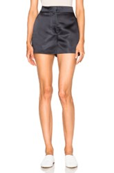 Acne Studios Callie Duchesse Satin Shorts In Green