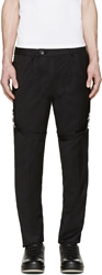 Hood By Air Black Buckle Strap Trousers