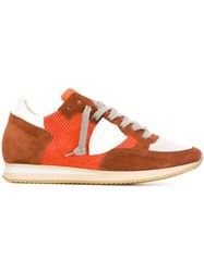 Philippe Model 'Tropez' Low Top Sneakers Yellow And Orange