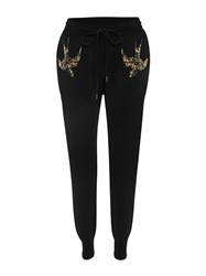 Markus Lupfer Black Little Bird Sequin Knitted Joggers