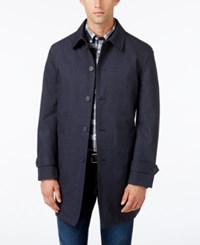 Tommy Hilfiger Men's Sharkskin Raincoat Navy