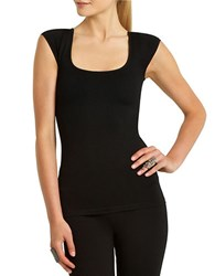 Bcbgmaxazria Penny Padded Shoulder Tee Black