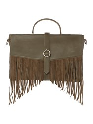Label Lab Aria Fringe Satchel Khaki