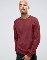 Esprit Sweat With Crew Neck And Raglan Sleeve Bordeaux 600 Red