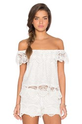 Nightcap Seashell Off Shoulder Blouse White