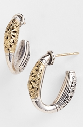 Konstantino 'Classics' Two Tone Hoop Earrings Silver Gold
