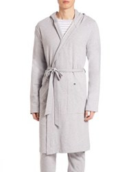 Hanro Luis French Terry Robe Grey Melange