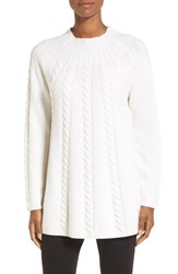 Nordstrom Women's Collection Cashmere Cable Knit A Line Pullover