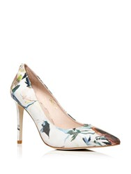 Moda In Pelle Cappi Stiletto High Heel Pointed Toe Court Shoes Graphic Floral Print