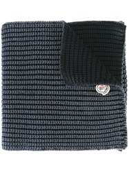 Moncler Ribbed Scarf Blue