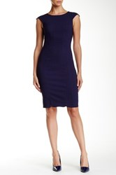 Zac Posen Ophelia Sheath Dress Blue