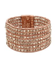 Kenneth Cole Multi Row Rose Gold Bracelet