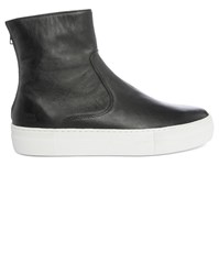 National Standard Black Boots Leather Sneakers