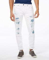 Guess Men's Slim Tapered Break Away White Wash Jeans