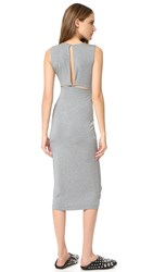 Alexander Wang Back Slits Sleeveless Dress Heather Grey