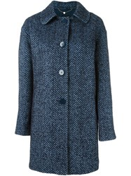 Twin Set Single Breasted Coat Blue