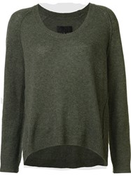 Nili Lotan Scoop Neck Jumper Green