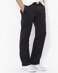 Polo Ralph Lauren Flat Front Chino Pants Classic Fit Polo Black